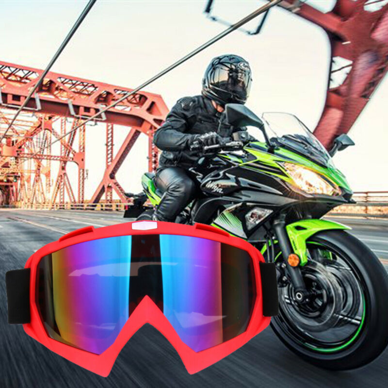 Skiing Eyewear Adult Motocross Goggles Motorcycle Goggles Glasses Clear Lens Ski Helmet Googles Off-road For Glasses Multicolor