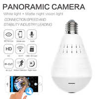 360 Degree LED Light 960P Wireless Panoramic Home Security Security WiFi CCTV onvi Fisheye Bulb Lamp IP Camera Two Ways Audio
