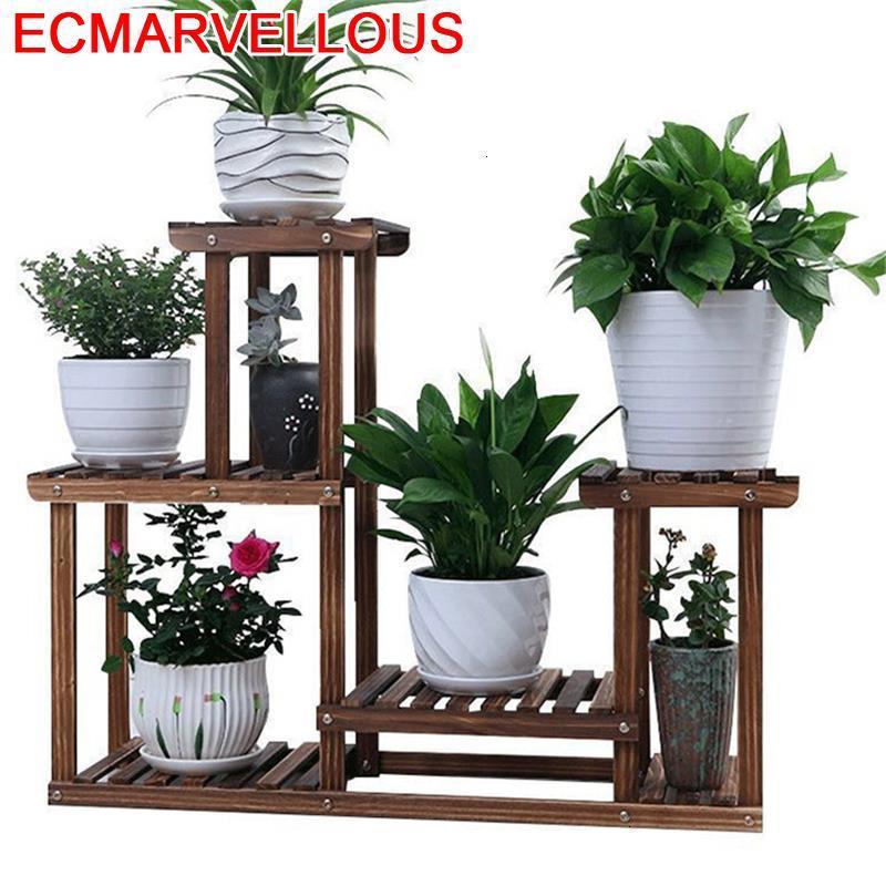Para Plantas Stojaki Na Kwiaty Saksi Standi Scaffale Porta Piante Indoor Pot Rack Balcony Shelf Outdoor Flower Plant Stand