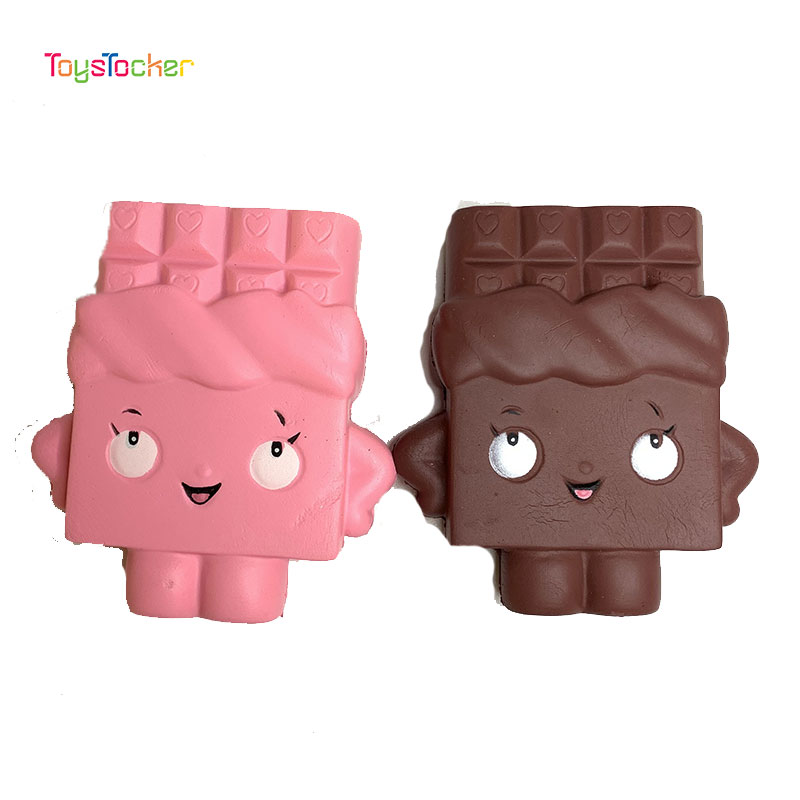 Colourful Chocolate Biscuit Modeling Squishy Slow Rising Soft Squeeze Toy Phone Strap Scented Relieve Stress Funny Kid Xmas Gift
