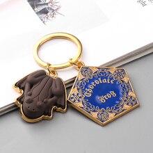 Großhandel 10 teile/los Film Potter Frösche Schlüsselbund Schokolade Plattform Anhänger Schlüssel Ketten für Frauen Männer Cosplay Jeweley Geschenk