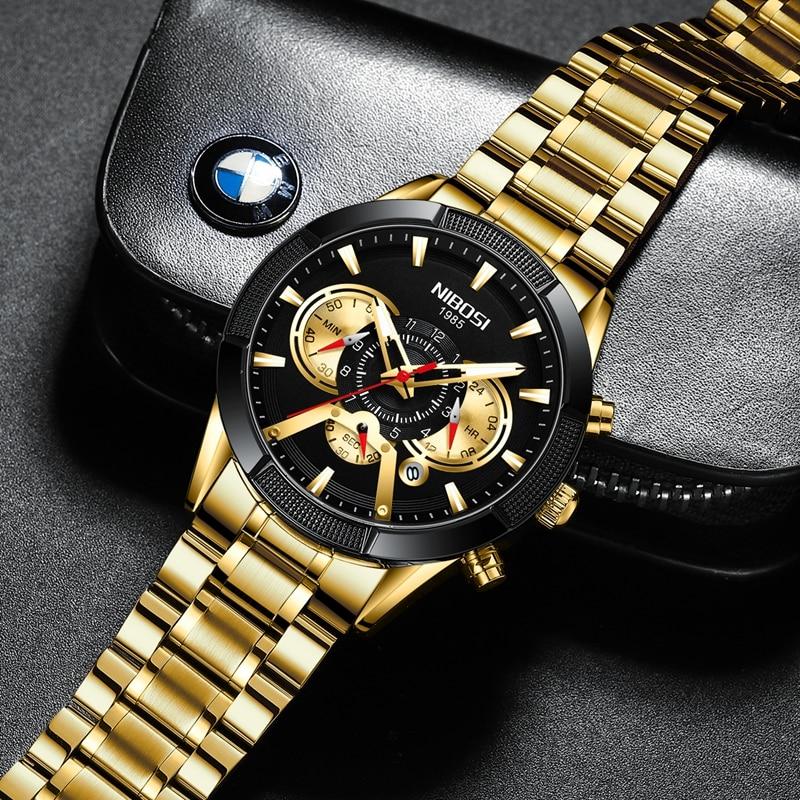 NIBOSI 2020 New Arrival Men Watch Top Luxury Brand Sport Watches Mens Chronograph Quartz Wristwatch Date Male Relogio Masculino 5