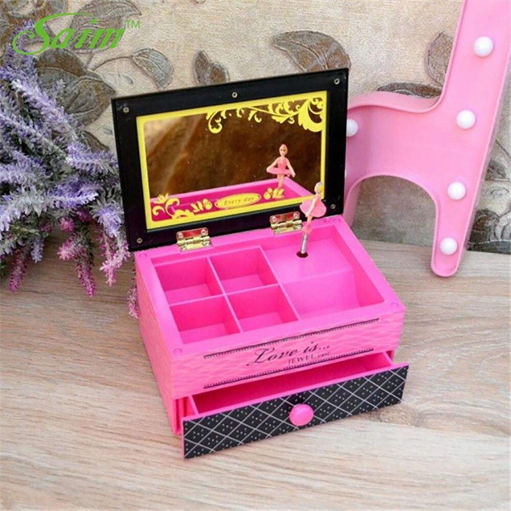 Saim Lovery Ballerina Music Boxes Hand Crank Jewelry Box Plastic Music Box Music Box DIY Wedding