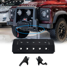 Offroad Auto Parts Front Bumper Lower Aluminum Alloy Front Skid Plate fit for Land Rover Defender 90 110 130