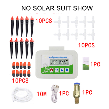 Waterproof Solar Intelligent Automatic Watering System Timer Watering Device Regularly Irrigating Flowers Plant Controller
