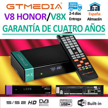 Mais novo gtmedia v8x decodificador de satélite atualizado por gtmedia v8 nova/v8 honra DVB-S2 freesat v9 super h.265 construído em wi-fi nenhum aplicativo
