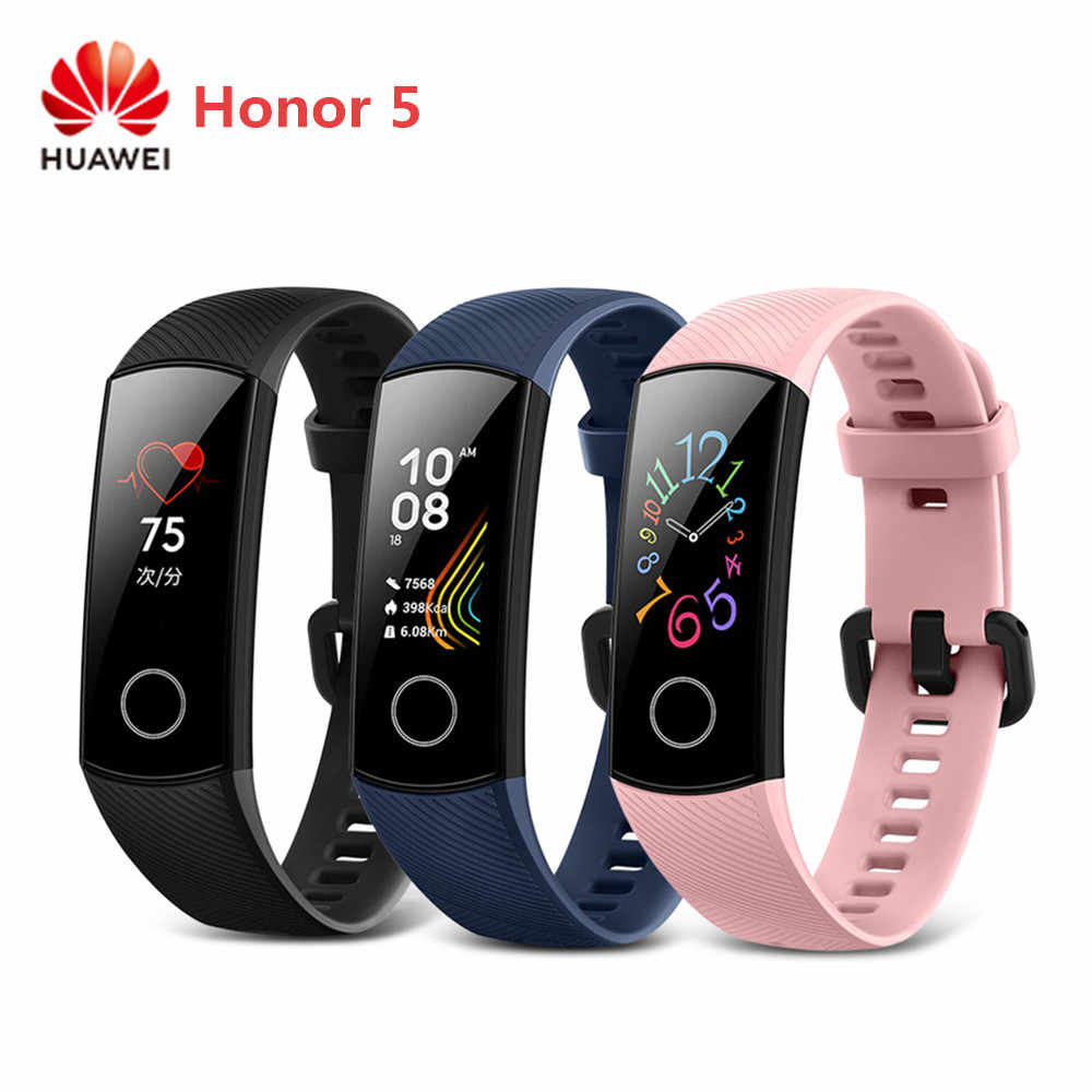 HUAWEI Ehre 5 Smart Uhr 0,95 Zoll Herz Rate Monitor Armband Magie Sport Armband IP68 Wasserdichte Smartband NFC Zahlung Neue