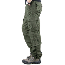 Men Cargo Pants Winter Safari Style Mid Waist Overalls Zipper Fly Loose Cargo Trousers Large Pockets Male Casual Trousers D40 zipper fly straight leg pockets cargo pants