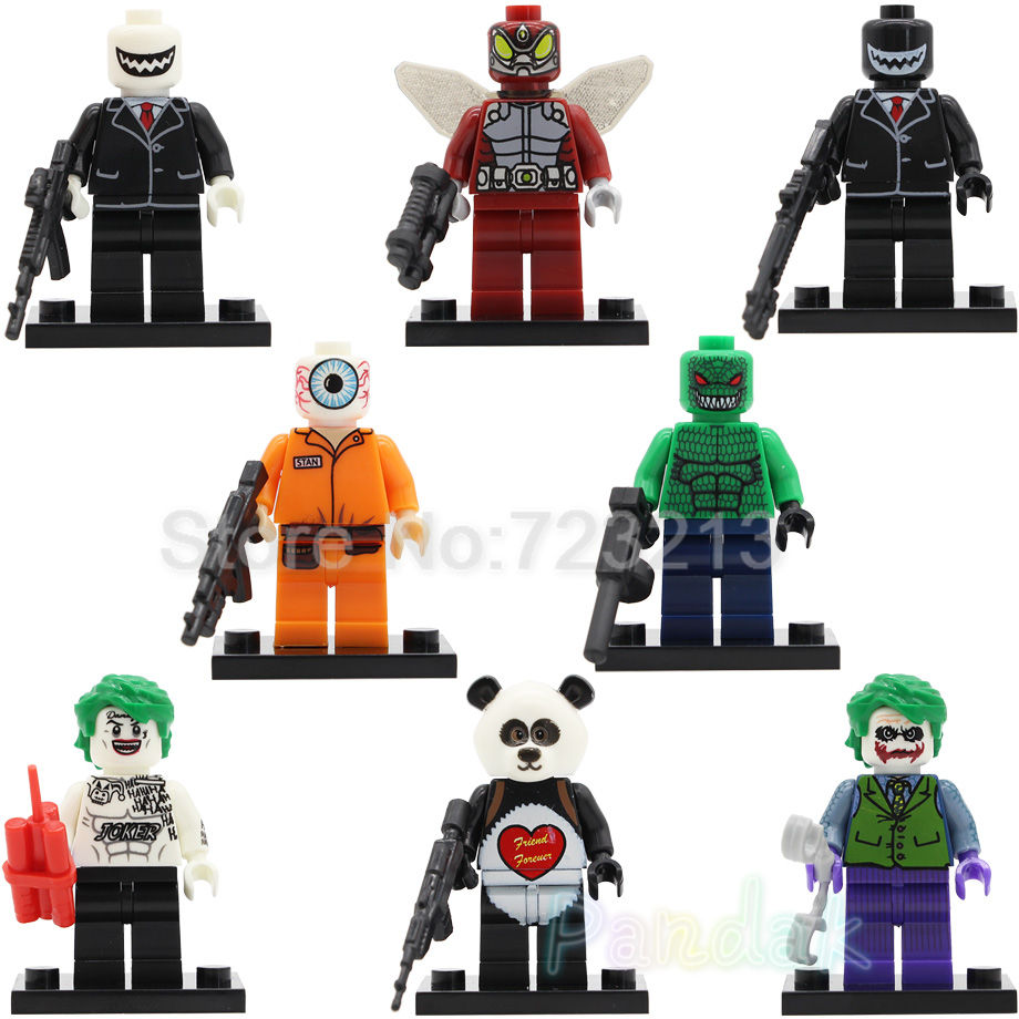 DC Super Hero Figure Single Sale Joker And His Subordinate Killer Croc Beetle Building Blocks Set Model Bricks Toys Legoing