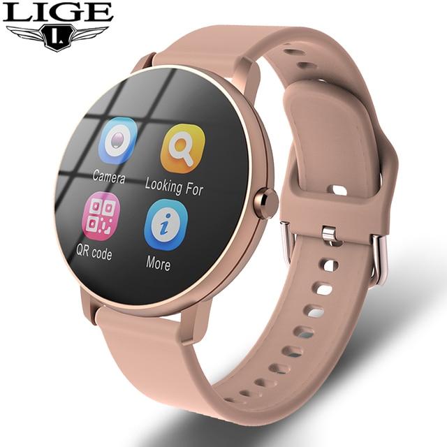 שעון חכם לאשה עם קוצב לב ומד ספורט מתחבר לאנדוראיד /אייפון 1