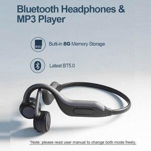 Image 5 - GGMM الأصلي بلوتوث 5.0 سماعات أحدث سماعة أذن تلتف حول الرأس المدمج في 8G بطاقة الذاكرة IPX67 HD هيئة التصنيع العسكري سماعات رياضية جديدة