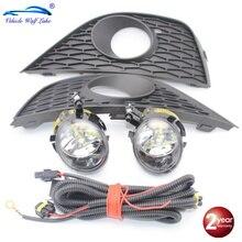 СВЕТОДИОДНЫЙ Автомобильный свет для Seat Ibiza 2009 2010 2011 2012 спереди светодиодный фонарь провод противотуманной фары Противотуманные фары решетка крышки лампы комплект