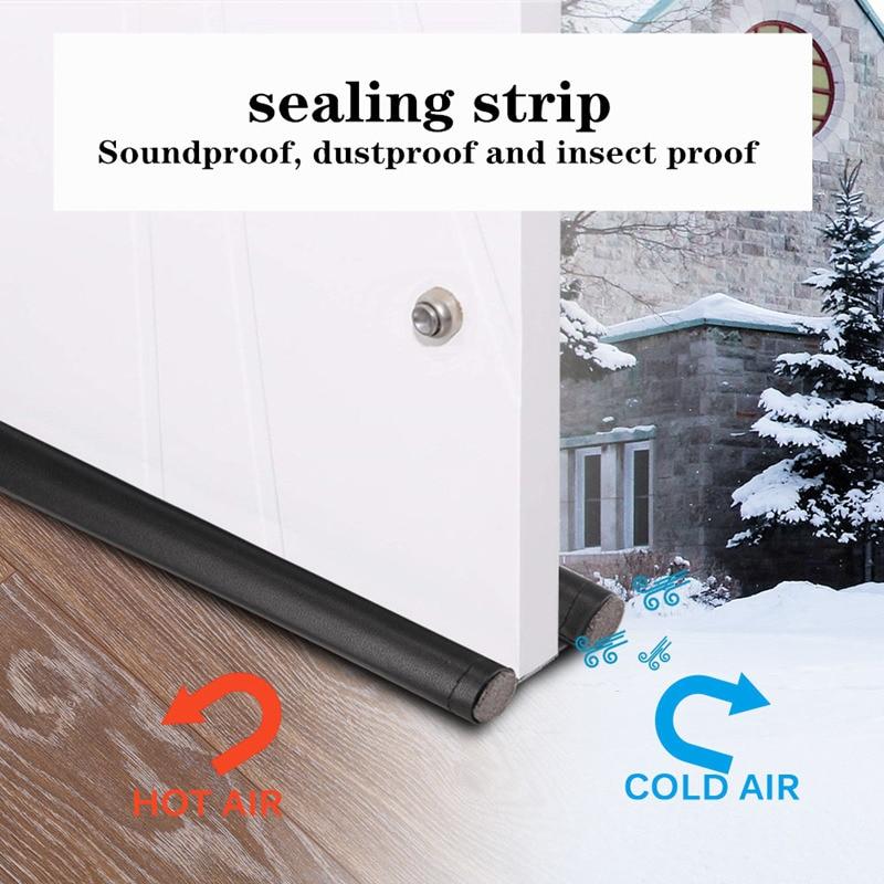 90cm New Door Bottom Seal Strip Mousse Soundproof Foam Weatherstrip Under Door Dust Draft Stopper Wind Blocker Guard Sealer Careful Calculation And Strict Budgeting