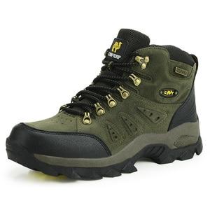 Image 2 - Outdoor Waterproof Hiking Boots Men Women Winter Shoes Walking Jogging Hiking Shoes Mountain Sport Boots Climbing Mens Sneakers