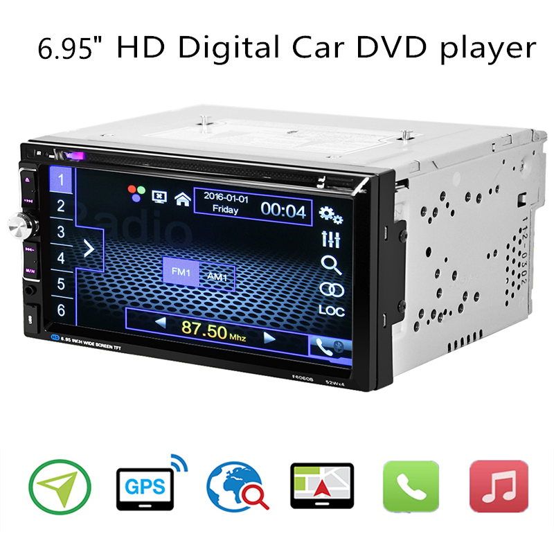 6.95 HD 2 din Autoradio Multimedia Speler Android Universele Auto Stereo Touch Screen MP5 Bluetooth Auto Radio Backup Camera