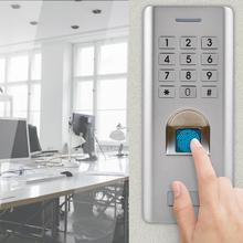 Metalowe zestawy kontroli dostępu do kontroli dostępu wodoodporny czytnik linii papilarnych hasło kontrola dostępu do drzwi klawiatura blokada bezpieczeństwa tanie tanio YOUTHINK
