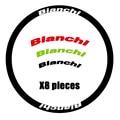 Bianchi наклейки на колеса дорожный велосипед/велосипед для обода колеса подходит для 30/40/50/60 мм 700C тормоза дорожный велосипед две наклейки для ...