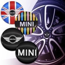 4pcs 56mm auto parts tire center sticker, high quality fashion wheel center hub cover sticker for mini- CLUBMAN JCW VAN VISION