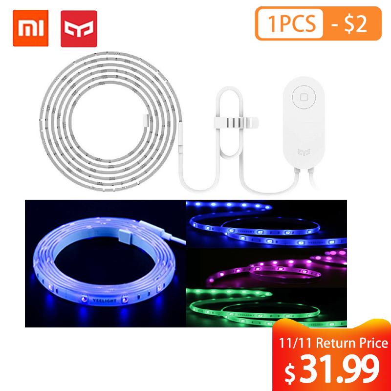 Yeelight RGB LED 2M Smart Light Strip Smart Home for Mi Home APP WiFi Works with Alexa Google Home Assistant 16 Million colorful