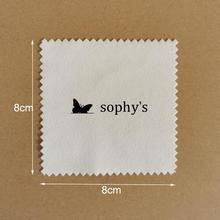 Polishing-Cloth-Printed Logo Individual-Packaging Custom-Made Silver with Black White