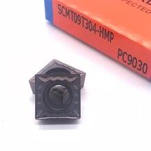 Herramienta de torneado interno SCMT09T304 SCMT09T308 HMP PC9030, 100% inserción de carburo Original de alta calidad para acero inoxidable