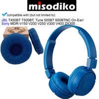 misodiko Replacement 70mm Cushions Ear Pads - for JBL T450BT T500BT Tune 500BT 600BTNC On-Ear/ Sony MDR-V150 V200 V250 V300 V400