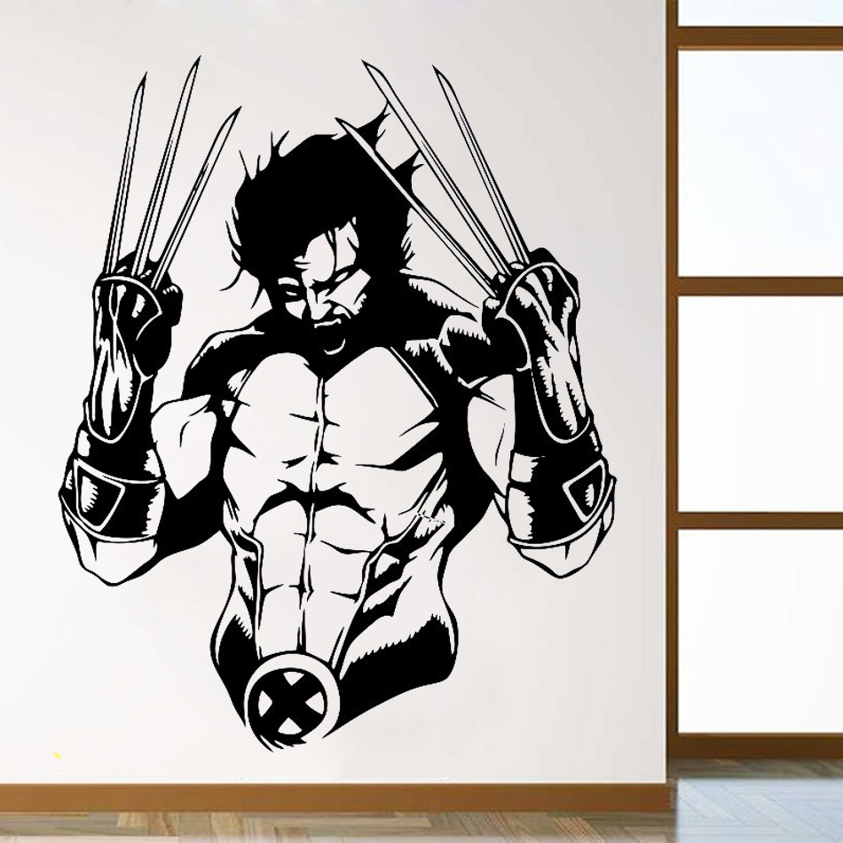 YOYOYU Wolverine Wall Decal Vinyl Sticker Marvel Comics Superhero Art X-Men Hugh Jackman Kid Room Decoration Window Decor WW-69 image