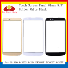 10Pcs/lot Touch Screen For LG K10 LTE K430DS K420N K430DSF K430DSY K430TV Touch Panel Front Outer K10 2016 LCD Glass Lens цена 2017