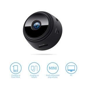 Image 2 - 2,0 MP Protable Mini IP Kamera WiFi 1080P HD Kleine Sicherheit Kamera Drahtlose Batterie Kamera Nachtsicht Auto Überwachung kamera