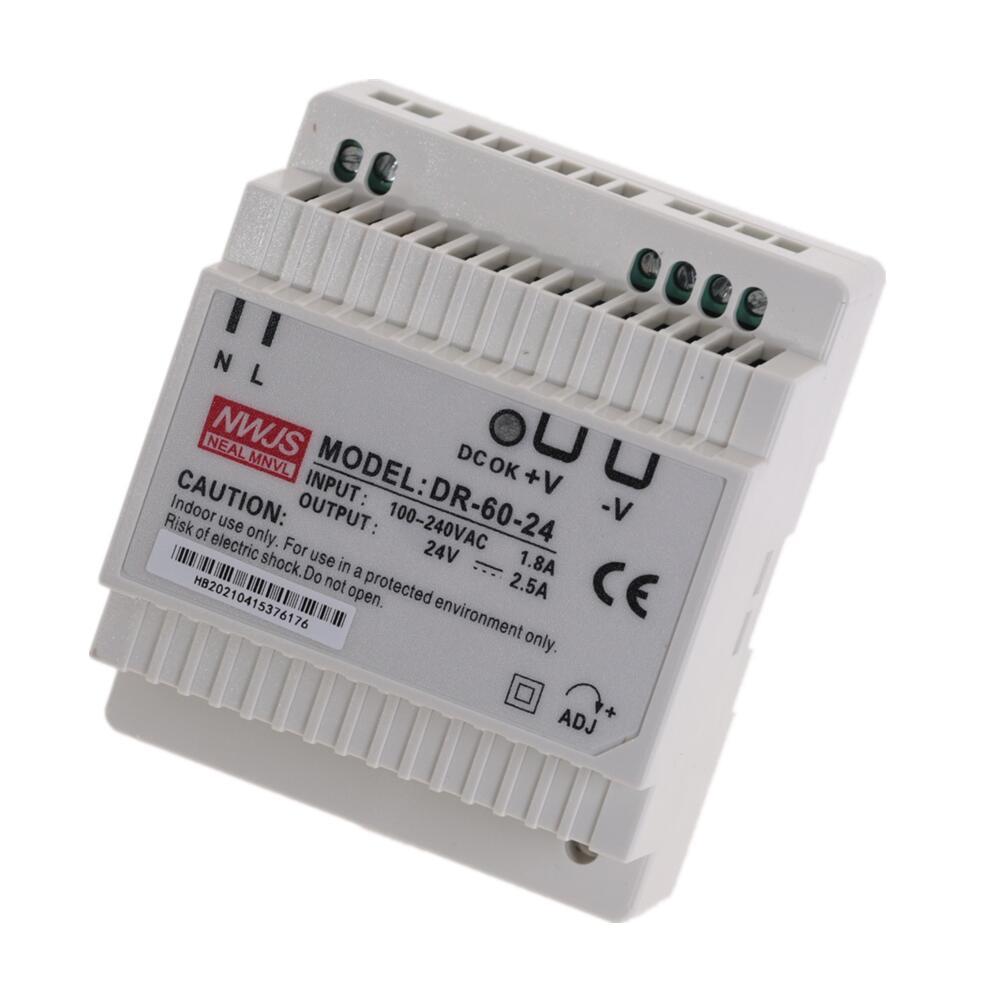 DR-60 DR-45 DR-30 30W 45W 60W Single Output 5V 12V 15V 24V Din Rail Switching Power Supply