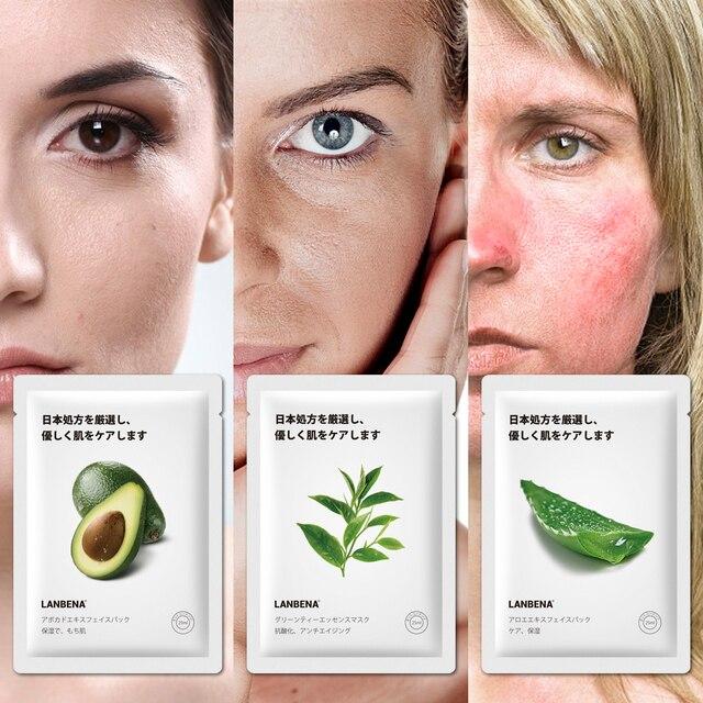 LANBENA Face Mask Fruit Facial Mask Japan Advanced Formula Whitening Moisturizing Water Locking Plant Extract Fresh Skin Care 2