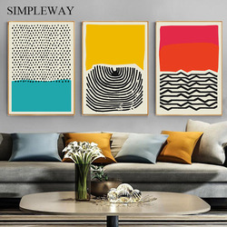 Modern Multicolored Abstract Geometric Wall Art Canvas Painting Minimalist Picture Nordic Posters and Prints Gallery Home Decor