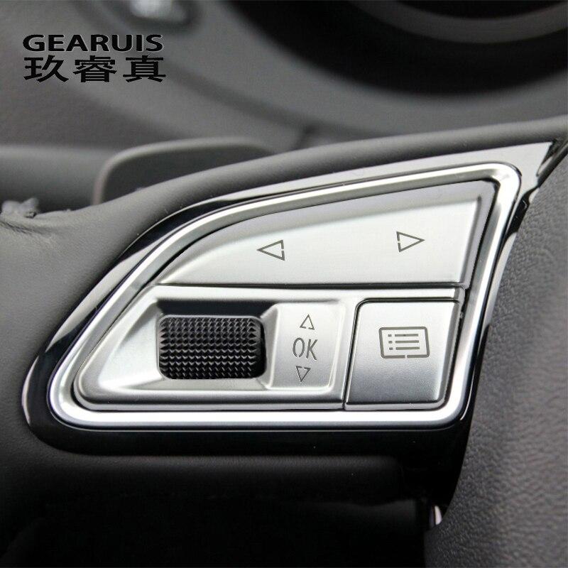 Автомобильный Стайлинг кнопки переключения рулевого колеса Atuo отделка рамка Декоративные Чехлы наклейки для Audi Q3 2013-2018 аксессуары для инте...