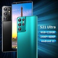 Teléfono Inteligente S21 Ultra, versión Global, 6,1 pulgadas, Android 11, 8 + 128GB, 24 + 48MP, identificación facial, SIM Dual, modo de espera Dual, 4G, 5G