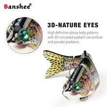 Banshee 120mm 31g VSJ06-5 balıkçılık cazibesi Isca 6 segmentleri çok eklemli doğal gerçekçi sazan pike Swimbait sert yapay yem