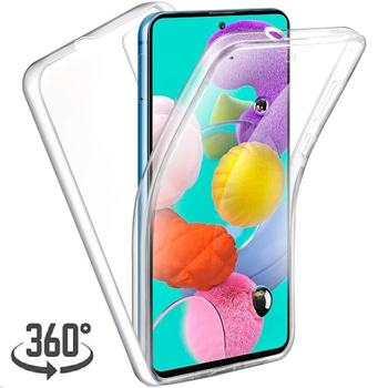For Samsung Galaxy S20 Plus Ultra A51 A71 A10 A40 A20 S6 S7 A01 A31 M31 M21 A21S A41 360 Full Cover Transparent Silicone Case image