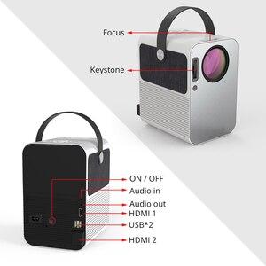 Everycom R10 светодиодный видео мини-проектор HD 720P портативный видеопроектор Поддержка Full HD 1080P домашний кинотеатр использование в качестве ...