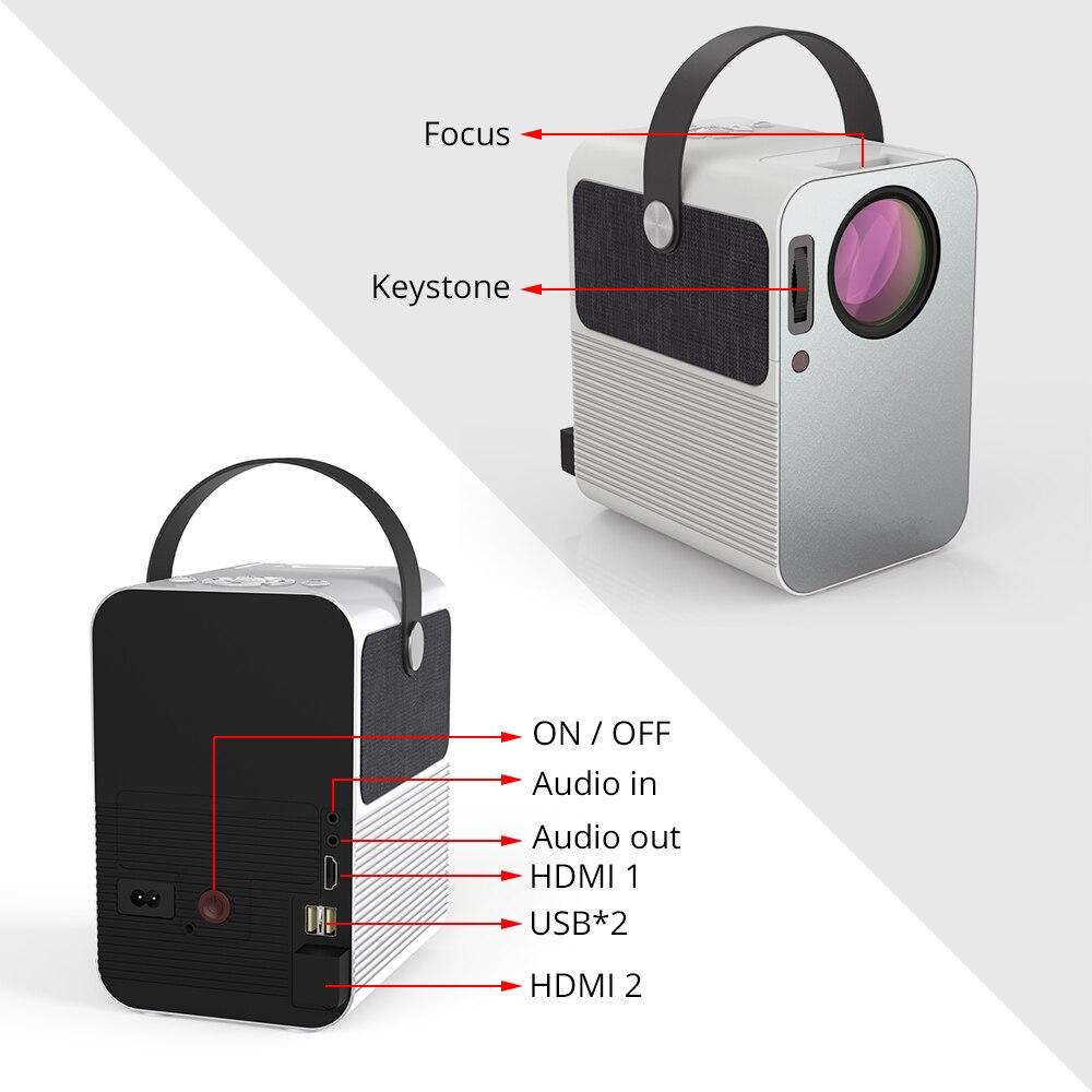 Everycom r10 led vídeo mini projetor hd 720p portátil beamer suporte completo hd 1080p uso do cinema de cinema em casa como alto-falante bluetooth,Este é um código de desconto 99 menos 15:DISC15-4