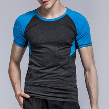 Men #8217 s Running T-shirts Quick Dry Compression Sport T-shirts Fitness Gym Running Shirts Soccer Shirts Men #8217 s Jersey Sportswea#3 tanie i dobre opinie Pasuje prawda na wymiar weź swój normalny rozmiar Oddychająca type