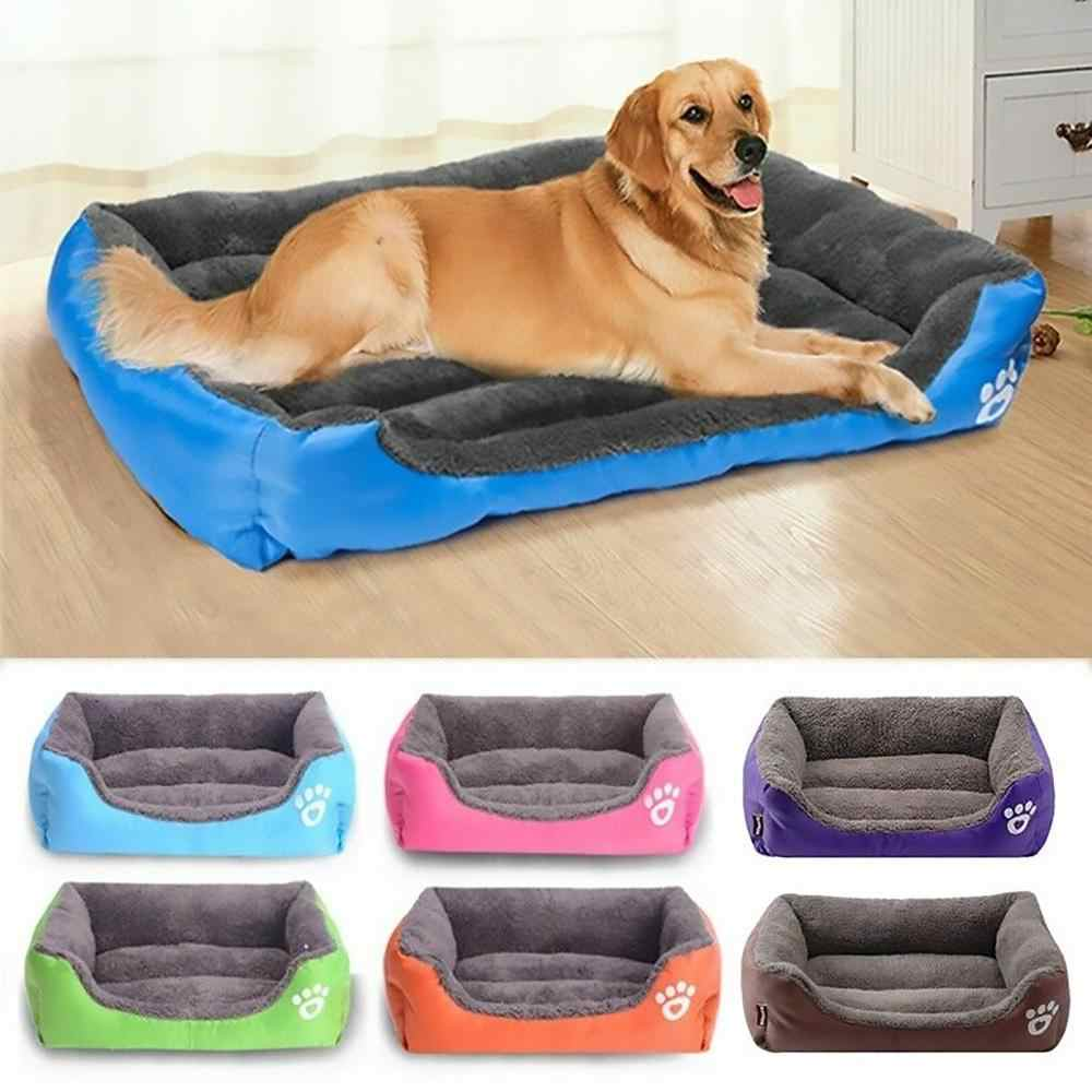 Dog Bed Mat House Pad Warm Winter Pet House Nest Dog Stripe Bed With Kennel For Small Medium Large Dogs Plush Cozy Nest