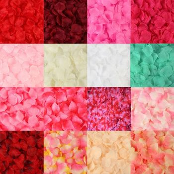 2000 Pcs Colorful Wedding Rose Artificial Rose Petals Wedding Petalas Colorful Silk Flower Accessories