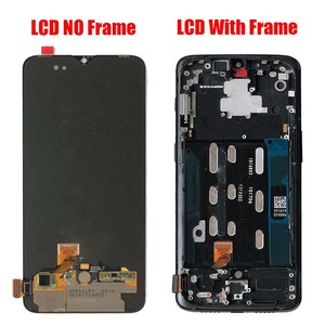 Image 2 - For OnePlus 6T  AMOLED Original LCD screen assembly and front case Matte Black  Bright black Free repair tools and Tempered film