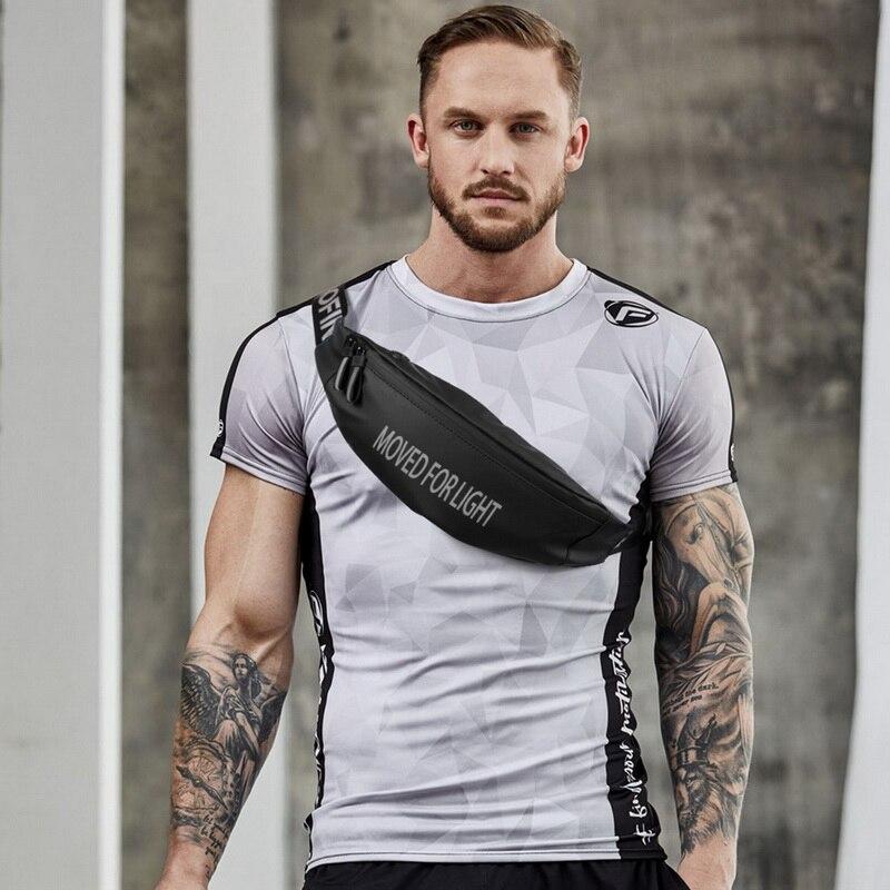 SHUJIN Unsex Fanny Pack Black Waterproof Money Belt Bag Men Women Sports Travel Wallet Belt Male Waist Bags Case for Phone(China)