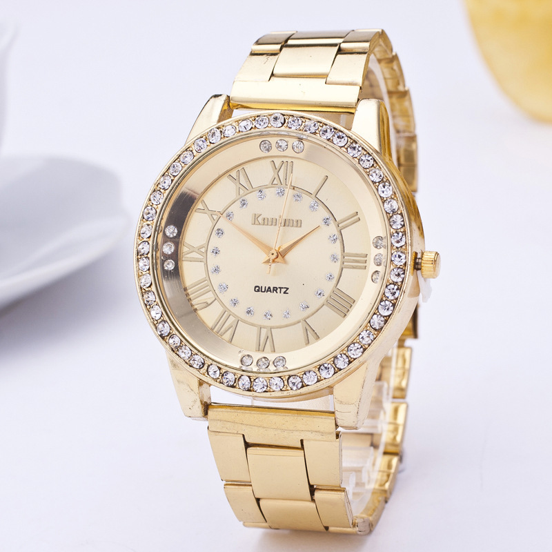 2019  Luxury Top Brand  Quartz Watches Men & Women Diamond Rose/Gold Watch Stainless Steel Analog Fashion Watch For Gift Clock