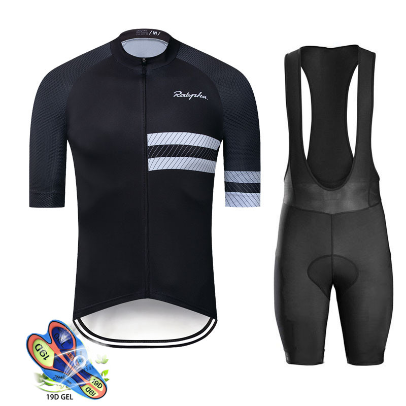 Raphaing Pro Team Cycling Jersey 2019 Men Cycling Set Short Sleeve Breathable Maillot Ropa Ciclismo Summer Cycling Clothing