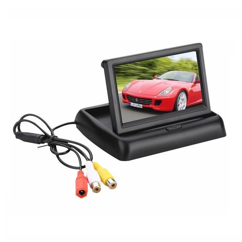 Faltbare Monitor Display 4,3 zoll TFT LCD Auto Monitor Av-eingang Display Bildschirm Reverse Kamera Parkplatz System Rück Monitore