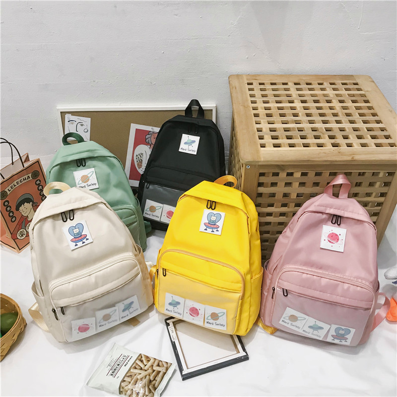 Canvas Backpack Women 2019 New Hot Fashion Female Preppy Style Casual Cartoon Backpacks Students School Shoulder Bags