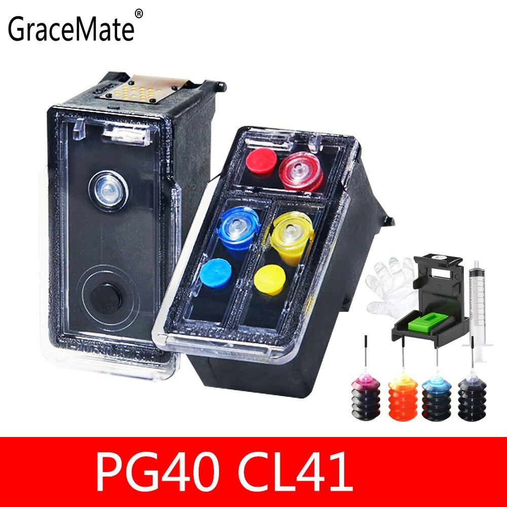 11.11 vente cartouche d'encre rechargeable de remplacement pour Canon PG 40 CL 41 pour Canon Pixma IP2500 MP210 MP140 MP150 MP160 MP180 MP190