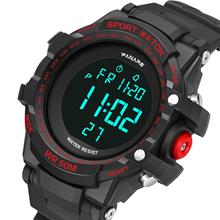 SYNOKE męski zegarek sportowy LED cyfrowy 50M wodoodporny zegarek wojskowy Shock mężczyźni zegar moda Sport elektroniczny reloj hombre tanie tanio Z tworzywa sztucznego 25 5cm 5Bar Klamra ROUND 25mm 16mm Akrylowe Stoper Podświetlenie Odporny na wstrząsy Wyświetlacz LED