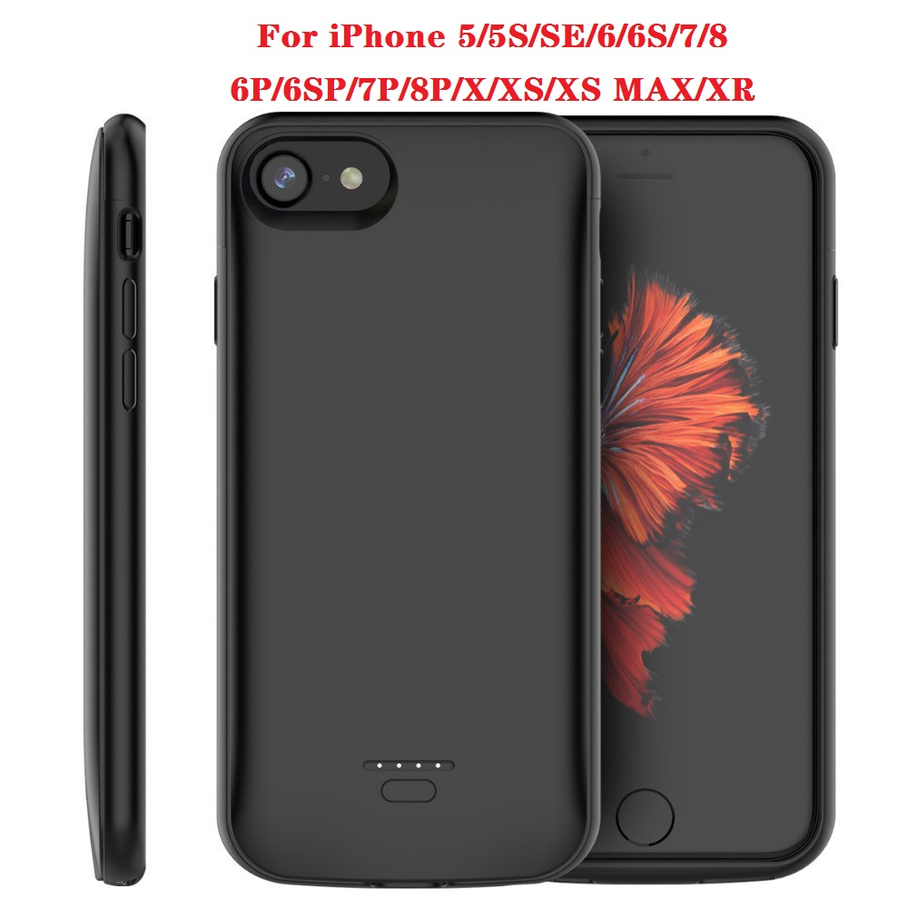 Battery Charger Case For IPhone SE 5SE 5 5S Cover 4000mAh Charging Powerbank Case For IPhone 5 6 7 8 X XR XS XS MAX Battery Case